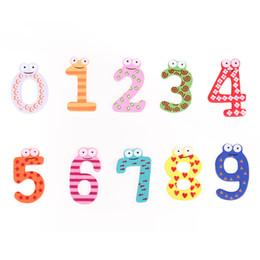 Wholesale 10Pcs Set Wooden Digital Fridge Magnets Figures Number Refrigerator Sticker Kids Children Educational Toys