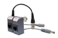 Wholesale BNC CCTV RJ45 Video Power Balun by UTP CAT5 Transmit Receiver Connector packs Express