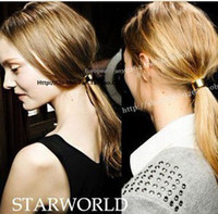 Wholesale Fashion personality and van metal band punk wild hair ornaments hair rope C7065