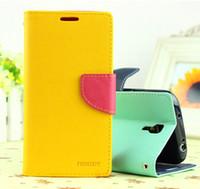 Colorfull Mercury porte-cartes à crémaillère flip coque en cuir housse coque pour Galaxy S4 i9500 Mercury portefeuille bon marché
