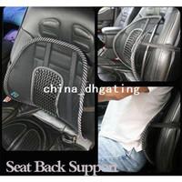 Wholesale New Car Seat Chair Massage Back Lumbar Support Mesh Ventilate Cushion Pad Black