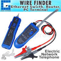 Wholesale N03NF T Continuity Test Wire Tone Tracker Cable RJ45 RJ11 Telephone Wire Coaxial Emitter Alligator clip Self protect function