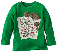 Wholesale 2013 christmas boys t shirt santa long sleeve tshirt children s t shirts kids tee shirt tops girl jumper sweatshirt jersey M1700