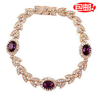 Wholesale Exquisite quality olive tree sparkling diamond crystal diamond crystal bracelet