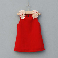 Wholesale Suspender Dress Baby Wear Casual Dresses Fashion Princess Dress With Flower Children Clothing Girls Cute Dresses Jumper Skirt Kids Clothes
