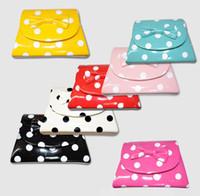 Wholesale Children Girls Dots Bowknot Japanned Leather Candy Color Handbag One Shoulder Baby Small Bags Satchel Designer Purse Shoulder Handbags