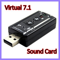 Wholesale USB D Virtual Channel Audio Sound Card Adapter External Sound Card for Desktop Notebook Stereo Speaker