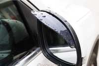 Wholesale 1pair New Smart Flexible Plastic Car Rear view mirror Rain Shade Guard Water Sun Visor Shade Shield Black