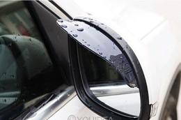 1pair Nouvelle puce flexible voiture en plastique Rétroviseur pluie Shade Water Guard Sun Visor Shade Bouclier noir 21014 à partir de protéger plastique noir fournisseurs