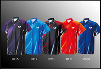 Men Polyester Polo free shipping 2013 NEW Butterfly Man s Badminton Tennis Polo Shirt Red Blue Purple Black