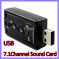 Wholesale USB Virtual Channel Audio Sound Card Adapter D for Personal Computer Notebook Laptop highly flexible audio interface