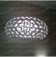 Modern acrylic ball pendant lamp - LLFA38 Dia cm New FOSCARINI Style Caboche Acrylic Ball Ceiling Light Pendant Lamp Chandelier Bar Living Room Lights Bedroom Lighting