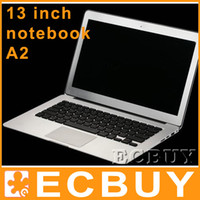 Wholesale 13 inch Laptop Intel Atom D525 G G SSD GHz Dual core thread notebook inch notebook win7 OS for airbook book air bluetooth