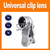 Wholesale Cool Universal in Clip On Fish Eye Lens Wide Angle Macro Lens For iPhone S G S3 iPad Mini