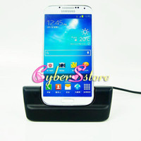 Wholesale 2 in USB Cradle Dock Battery Charger Charging Desktop Micro Cable Stand Station for Samsung Galaxy S IV S4 i9500