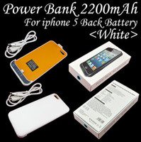 Wholesale Free DHL mAh External Battery Backup Charger Case Pack Power Bank for iPhone s support ios7 with retail package