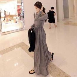 2016 Autumn Winter dress Fashion party maxi dress women dress long dress pleated skirt long sleeve slim dress folded maxi skirts grey dress