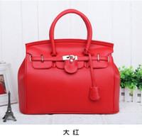 Wholesale 2015 Hot Elegant Vintage Women Lady Celebrity PU Leather Tote Handbag Shoulder Hand Bag with Lock colors