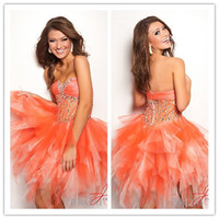 Hot Sale 2013 Newsest Cheap Cute Sexy Tulle Orange Short Min...