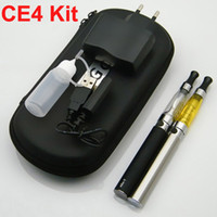 Electronic Cigarette Bag For E-Cigarette  Ego CE4 Kits 650mah 900mah 1100mah Battery Electronic Cigarette Kits Zipper Case 2 Atomizers 2 Batteries 4 Kinds Plug Standard Free DHL