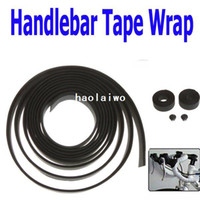 Wholesale Hot Sale Pairs Brand new Bike Bicycle Handlebar Tape Wrap amp Bar Plug Black