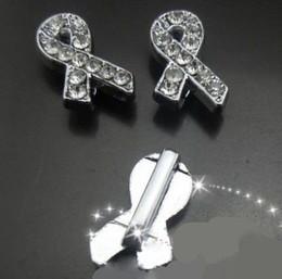 100pcs lot 8mm rhinestones ribbon tie slide charm Fit for 8MM diy phone strips keychains wrisbtand
