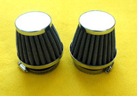 Wholesale 1x mm New universal Air Filter For Motorcycle AIR FILTER Engine Inlet Clamp AIR FILTER w CLAMP POD