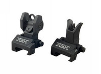 Wholesale Black Troy Sights Industries Front amp Rear Folding Battle Sight M4 Style COMBO