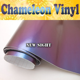 High Quality Purple Blue Chameleon Vinyl Wrap Air Bubble Free For Vehicle Decals Size:1.52*30M Roll
