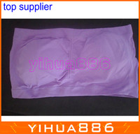 Wholesale Strapless Bra Removable Pads - 6 colors STRAPLESS Tube BANDEAU Removable Padding Bra Seamless Sexy Sports bra