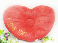Adults adult dvd - Loving Heart Shaped Soft Cartoon Music Cushion Pillow Speaker Nap Pillow Supported MP3 MP4 CD VCD DVD amp Computer Player