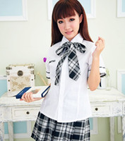 People lingerie japan - Sweety girls Sexy Lingerie Sexy Costumes Classic Japan School uniforms Girls Cosplay Costumes clothes top skirts Butterfly tie