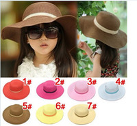 Wholesale Child girl hat beach hat children hat sun hat