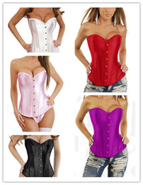 Wholesale 5 colors Sexy Lingerie Top Corset lace up back Stain Corset Underwear Busiter Wasit Steel Boned Corset S XL