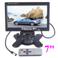 Wholesale 7 inch TFT Color LCD Video Input Car RearView Headrest Monitor DVD VCR drop shipping