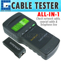 Wholesale SC Handheld Multifunctional Digital Network LAN Cable E E Coaxial Telephone Line Wire Length Tester Rj45 Rj11