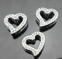 Wholesale mm heart slide charms fit pet collar necklace bracelet NO