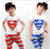 Girl Summer Short baby sets baby suits boys' T-shirts shorts baby pants baby tees superman clothing set kids' trousers boys' sets