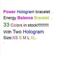 Las ventas calientes del envío Gratis mixto 33 colores 5 tamaños de los deportes de la pulsera de silicona de energía de la banda del silicón de la balanza de pulsera