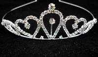 Wholesale Silver wedding tiaras prom tiaras accessories diamond crown