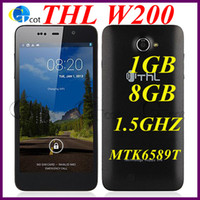 Wholesale THL W200 Inch MTK6589T GHz Quad Core GB RAM GB ROM Android cell phone MP Android HD IPS Screen G GPS unlocked SmartPhone