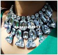 Wholesale Dame s Gift Precious Big Crystal Fashion Collar Necklace Brand Jewelry Min order mix order XL4002