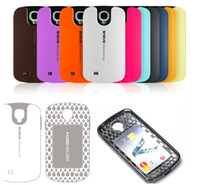 Wholesale New Design Verus Oneye hybird Hard PC TPU Silicone Card Holder Cover Case For Samsung Galaxy S4 i9500 With Retail Box
