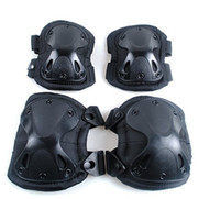 Wholesale Tactical paintball protection knee pads amp elbow pads set black