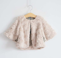 Wholesale Poncho Coat Baby Thick Cloaks Mantle Children Poncho Fur Coat Winter The Poncho Fashion Leopard Print Cardigan Kids Casual Coat Girl Clothes