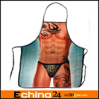 Wholesale funny sexy novelty adult vintage kitchen cooking aprons for men women gift