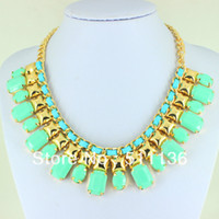 Fashion beauty bibs - 2013 New Arrival Fashion Gold Chunky Choker BIb Statement Necklaces for women KK SC073 beauty necklace