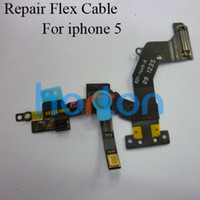 Wholesale Assembly Front Camera With Proximity Light Sensor Flex Ribbon Internal Mic Module For iPhone AF164
