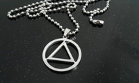 Wholesale In the occult it is the Thaumaturgic Triangle Circle Stainless steel pendant amulet