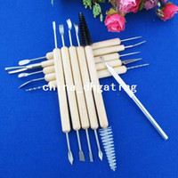 Wholesale 11pcs Wax Pottery Clay Soap Carving Modeling Tool Kit Wood SCULPTING DIY Craft